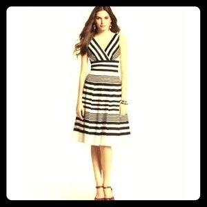 WHBM Striped Pleated Summer Dress